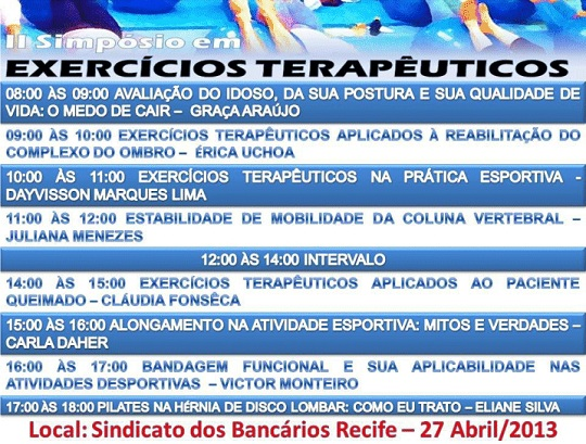 II Simpsio em Exerccios Teraputicos