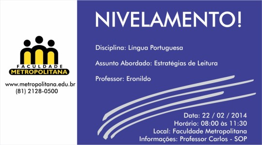 nivelamento portugues - eron