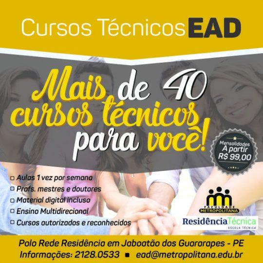 Cursos técnicos em EAD