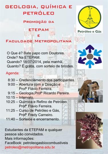 Palestra na ETEPAM sobre Metro 18-07-2014