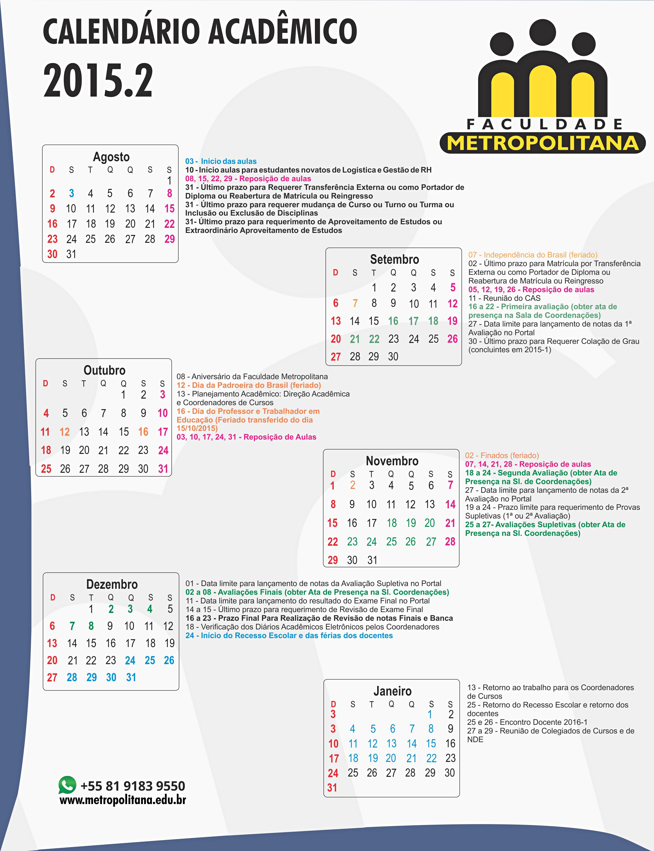 calendário 2015.2