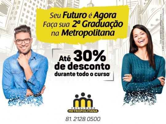 Banner segunda graduação Metropolitana